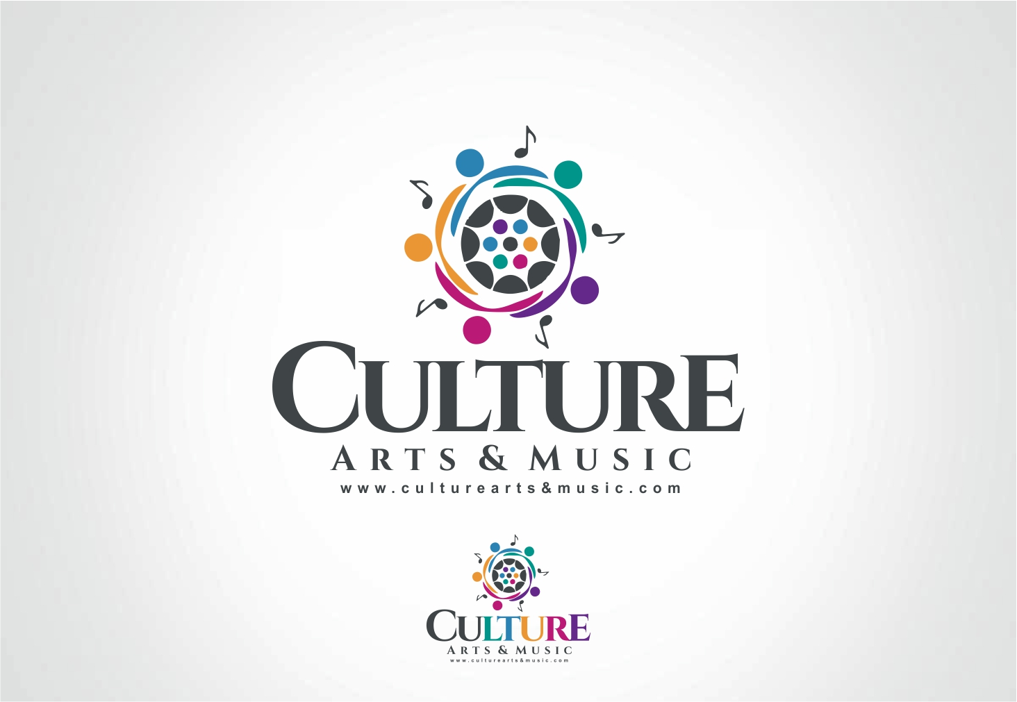 Professional bold logo design for culture arts music for Design company