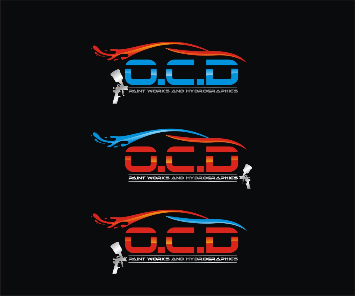 Masculine Bold Automotive Logo Design For O C D Paint Works And