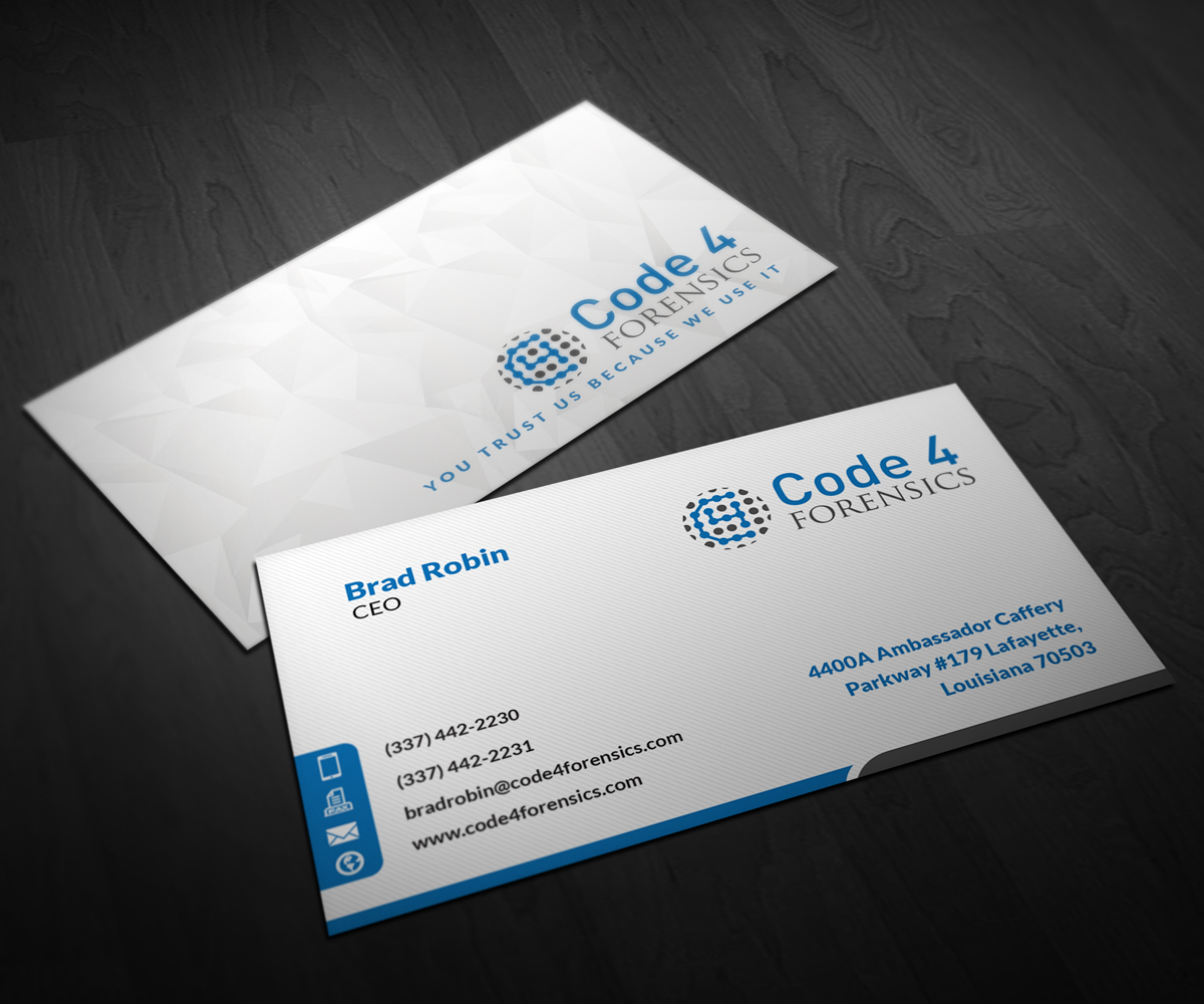 Professional, Modern, Information Technology Business Card Design ...