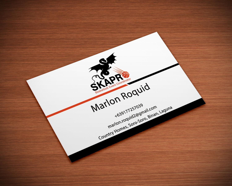 Masculine Upmarket Sporting Good Business Card Design For A