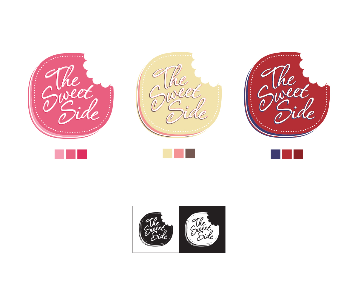 Playful Modern Logo Design For The Sweet Side By Shpaolin Design