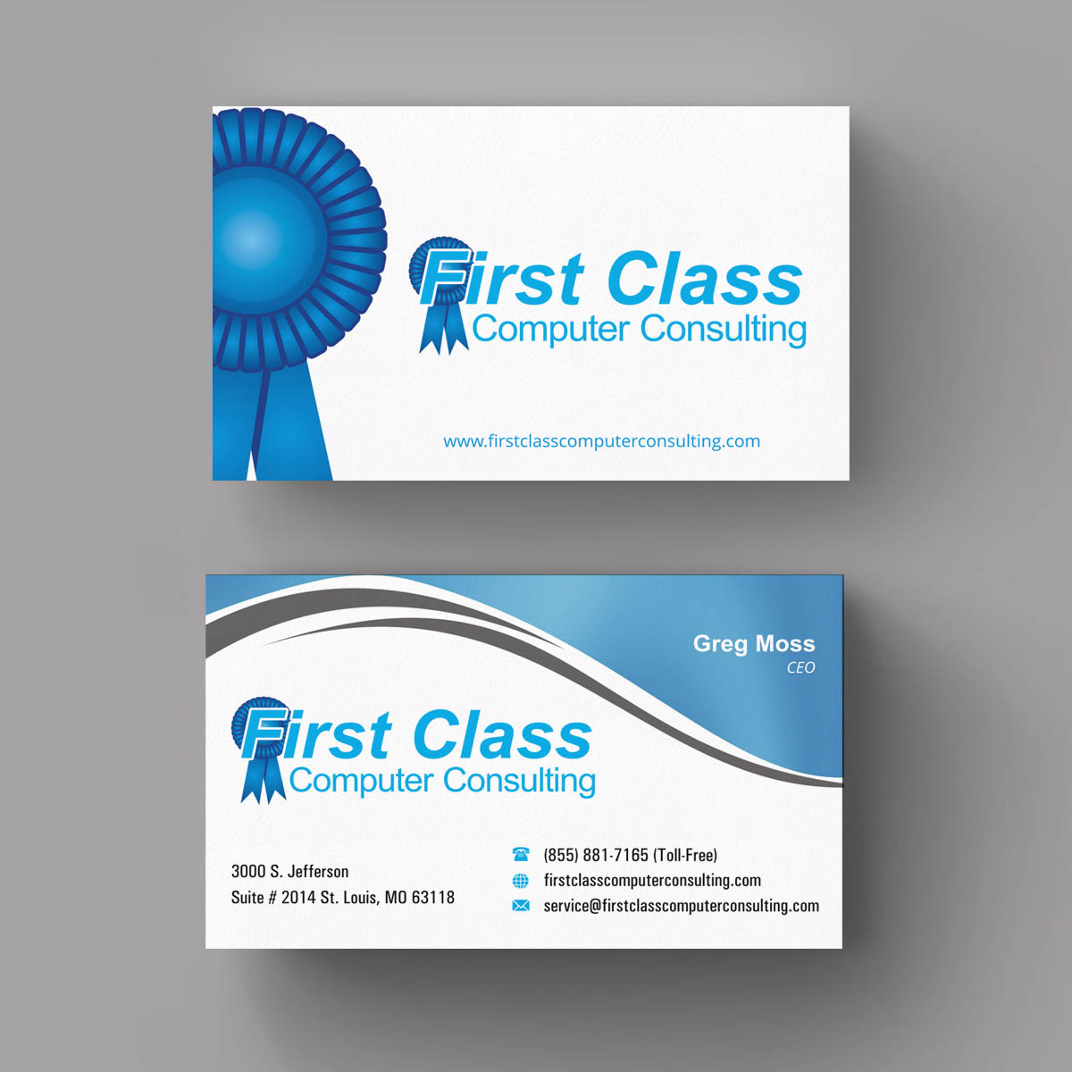 Business Card Design By INDIAN Ashok For First Class Ventures LLC