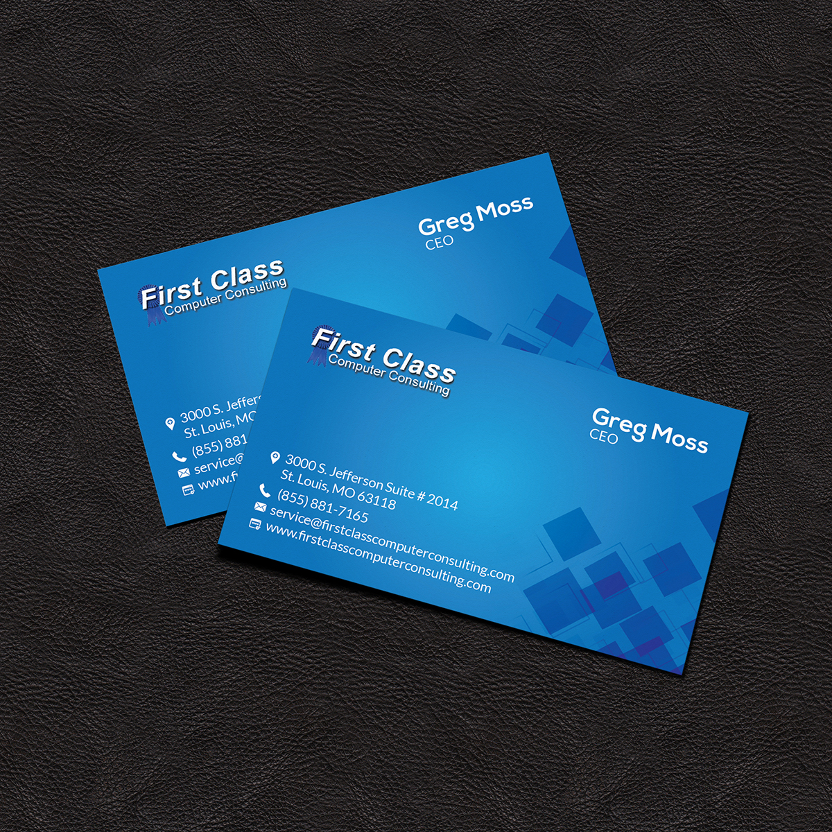 Elegant, Playful Business Card Design for First Class Ventures ...