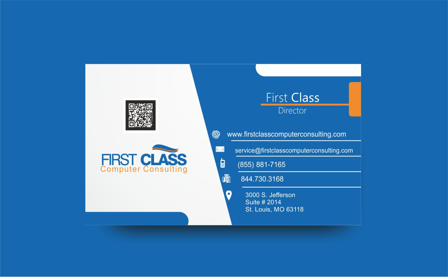 Elegant, Playful Business Card Design for First Class Ventures, LLC ...