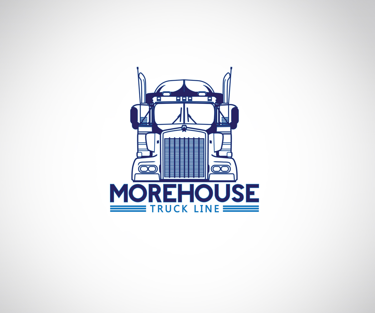 masculine bold logo design for w n morehouse truck line