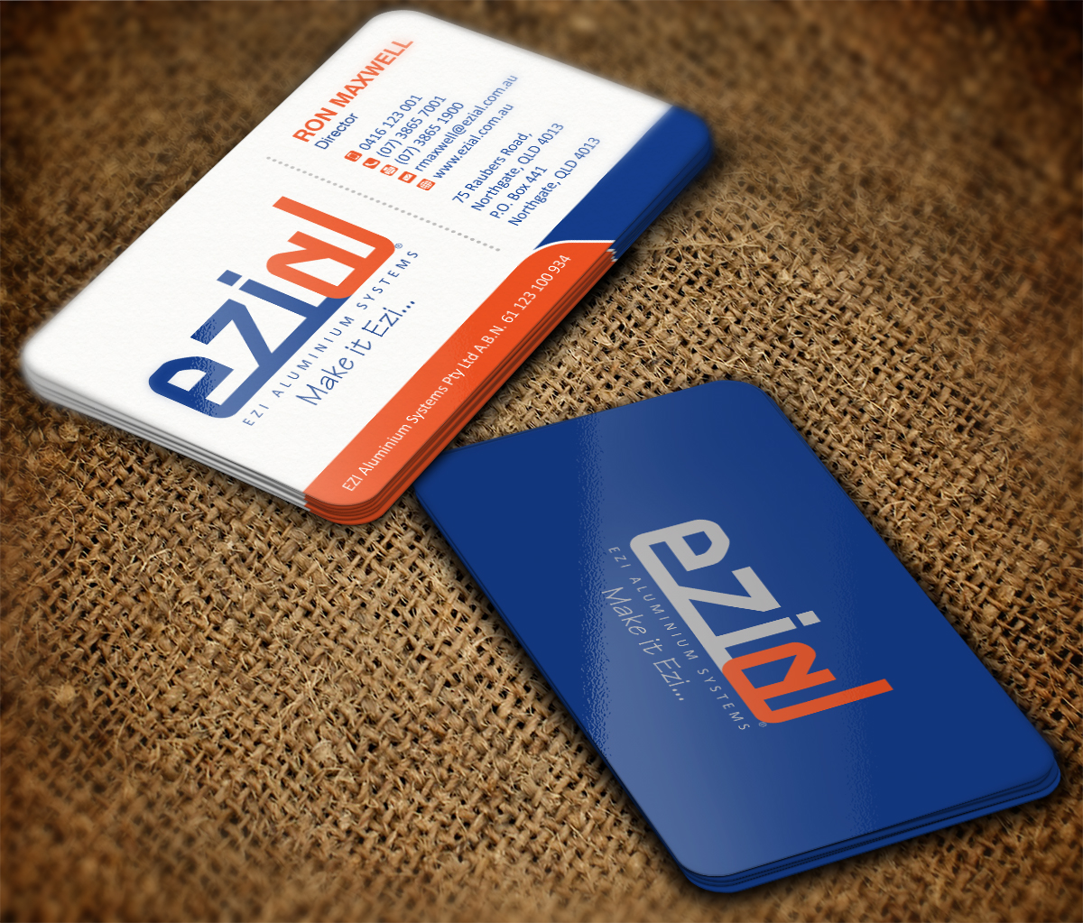 Modern, Professional, Building Business Card Design for Ezi ...