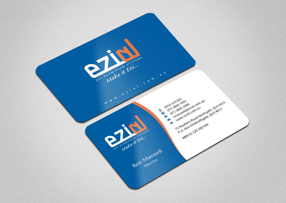 Modern professional building business card design for ezi business card design by indianashok for ezi aluminium systems pty ltd design 7432270 colourmoves