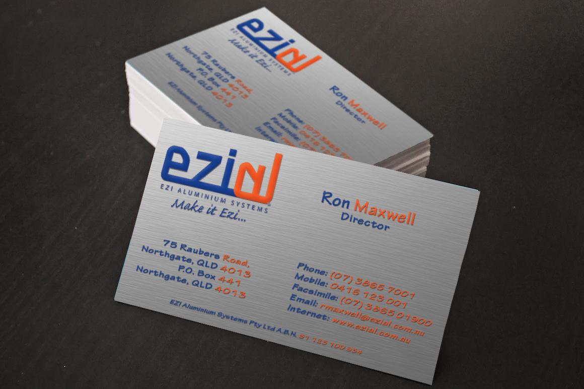 Aluminium business cards australia best business cards modern professional business card design for ezi aluminium magicingreecefo Choice Image