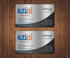 144 modern business card designs building business card design business card design by stylez designz for ezi aluminium systems pty ltd design colourmoves