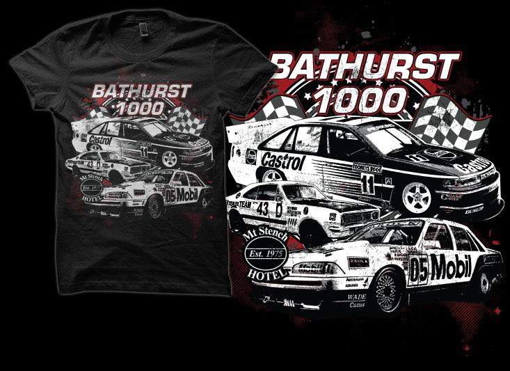t shirt design by simrks for bathurst 1000 holden car race enthusiast t shirt - Racing T Shirt Design Ideas