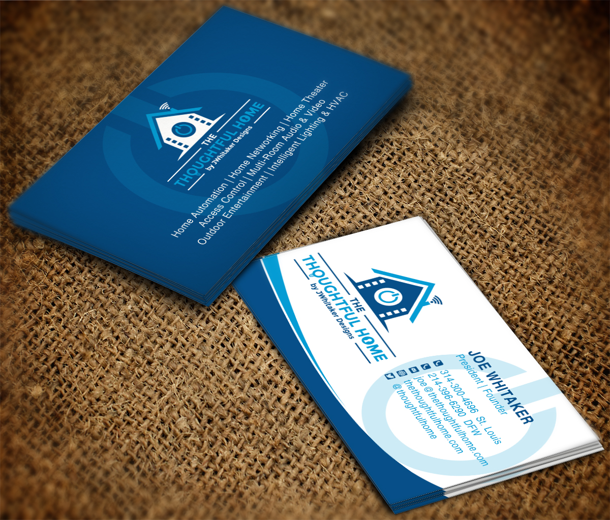 106 bold serious business card designs for a business in united states business card design design 7516280 submitted to home automation av networking