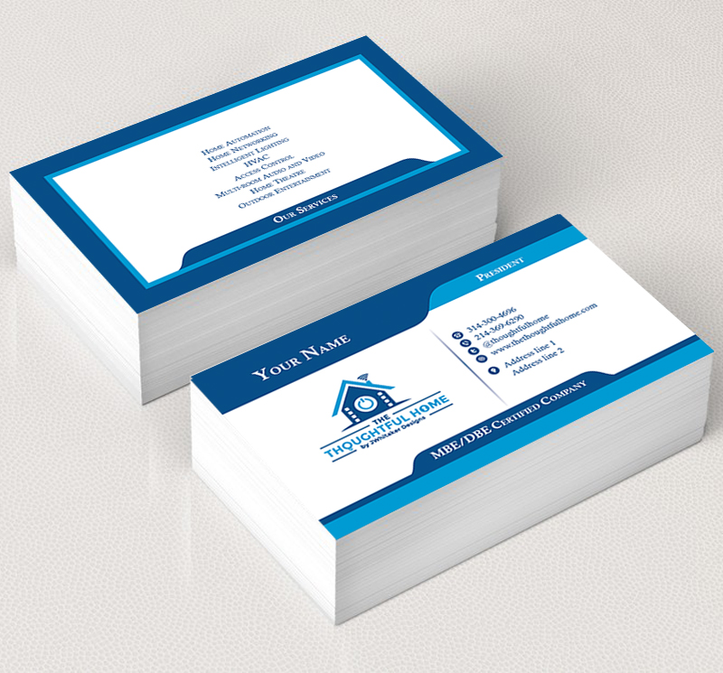Bold Serious Business Business Card Design For The Thoughtful Home By Jwhitaker Designs By The Filly Studios Design 7444322