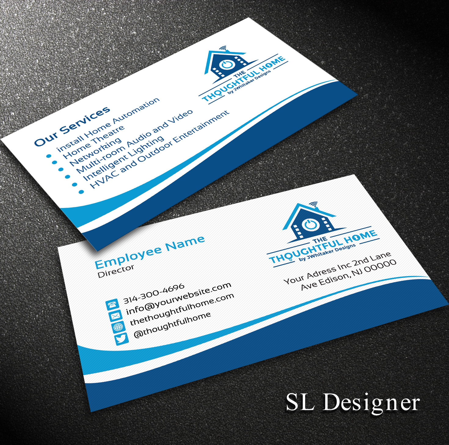 106 bold serious business card designs for a business in united business card design design 7434166 submitted to home automation av networking