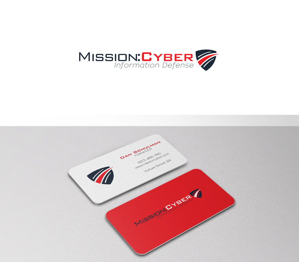 bold serious computer security logo design for mission