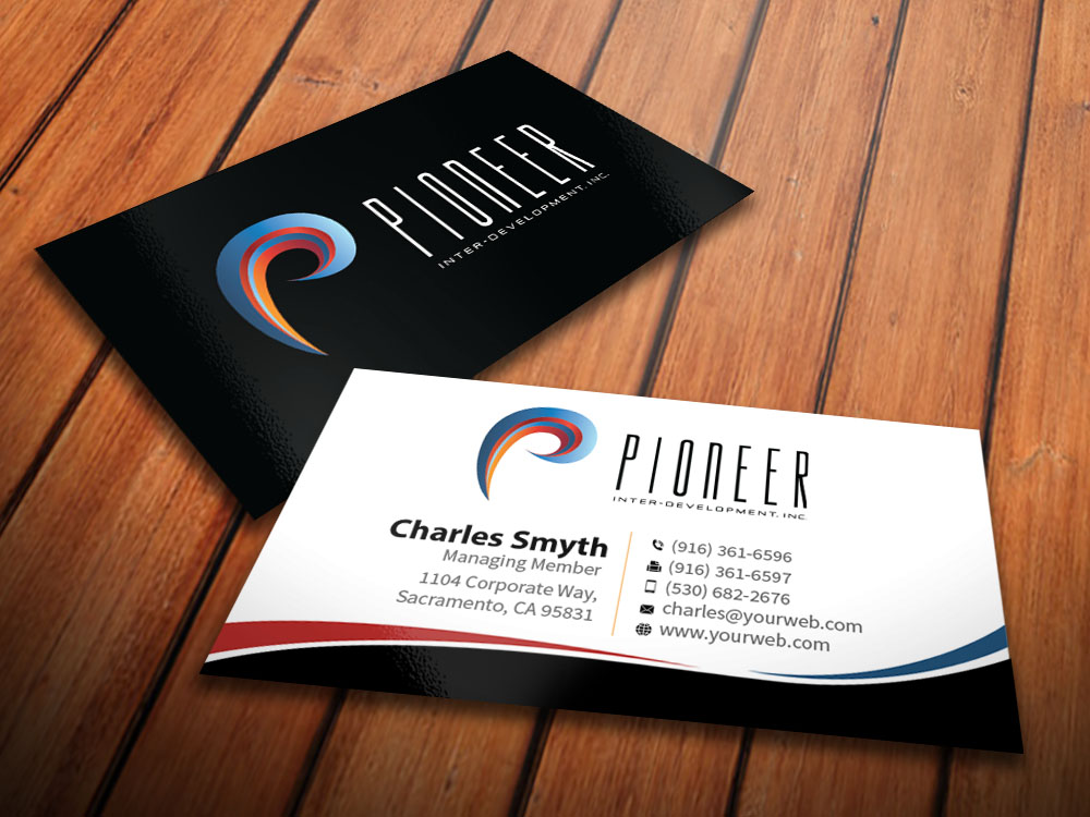 Upmarket, Modern Business Card Design for Pioneer Inter-Development ...
