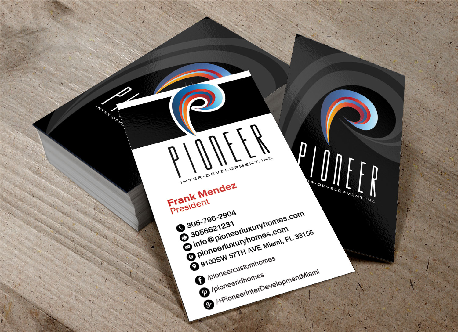 Business Card Design By Pawana Designs For Pioneer Inter Development, Inc.  | Design