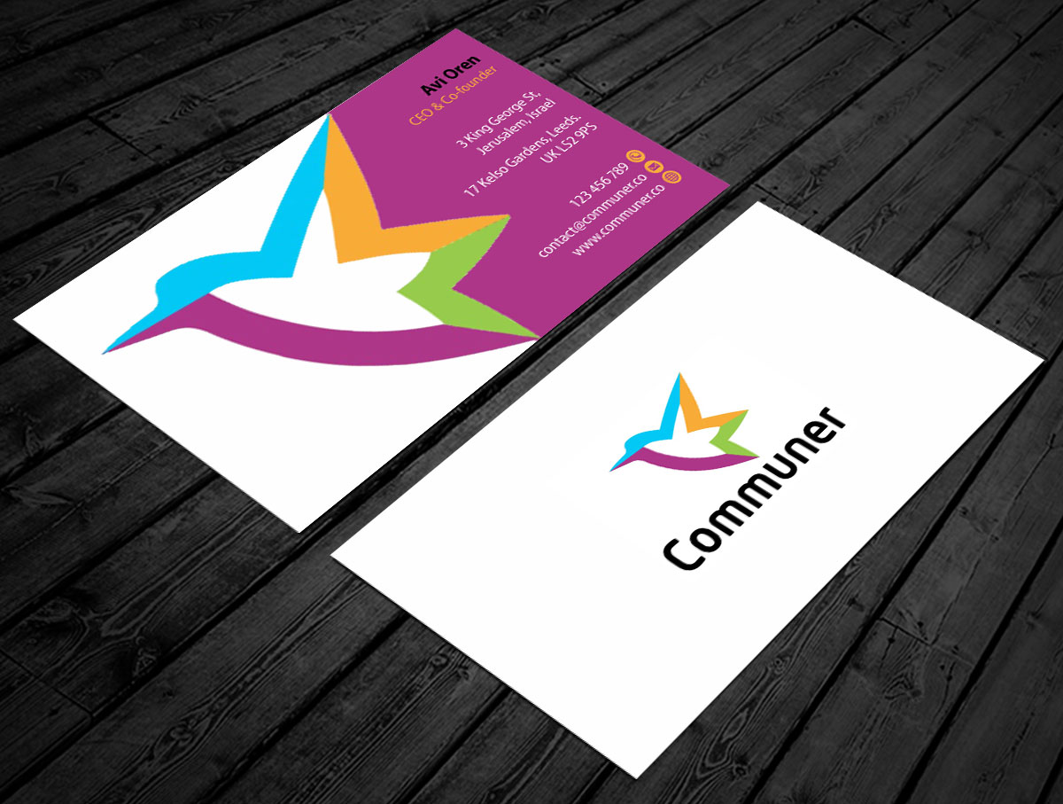 Modern elegant business business card design for mcsi digital business card design by jetweb for mcsi digital services design 7445360 reheart Image collections