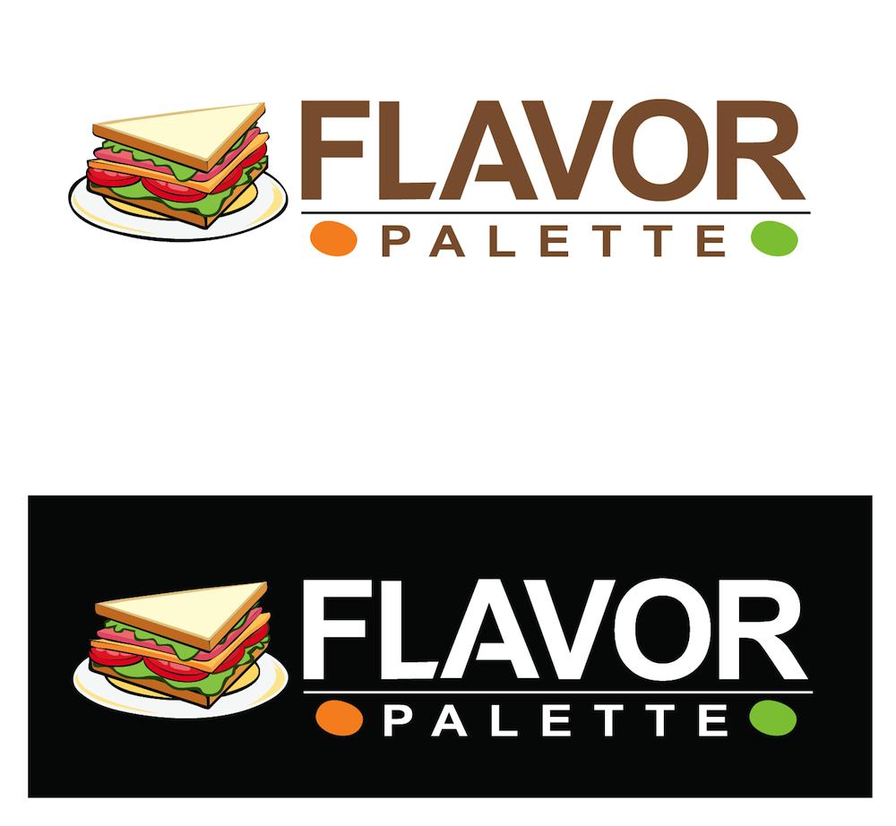 Playful modern restaurant logo design for flavor palette