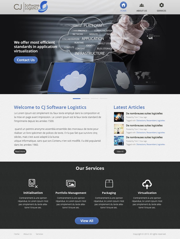 Professional, Modern, Real Estate Web Design for CJ Software