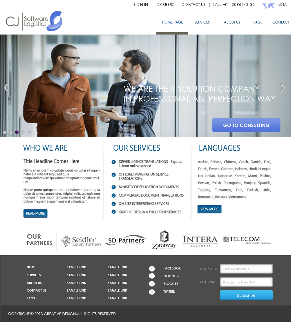 Professional, Modern, Real Estate Web Design for CJ Software