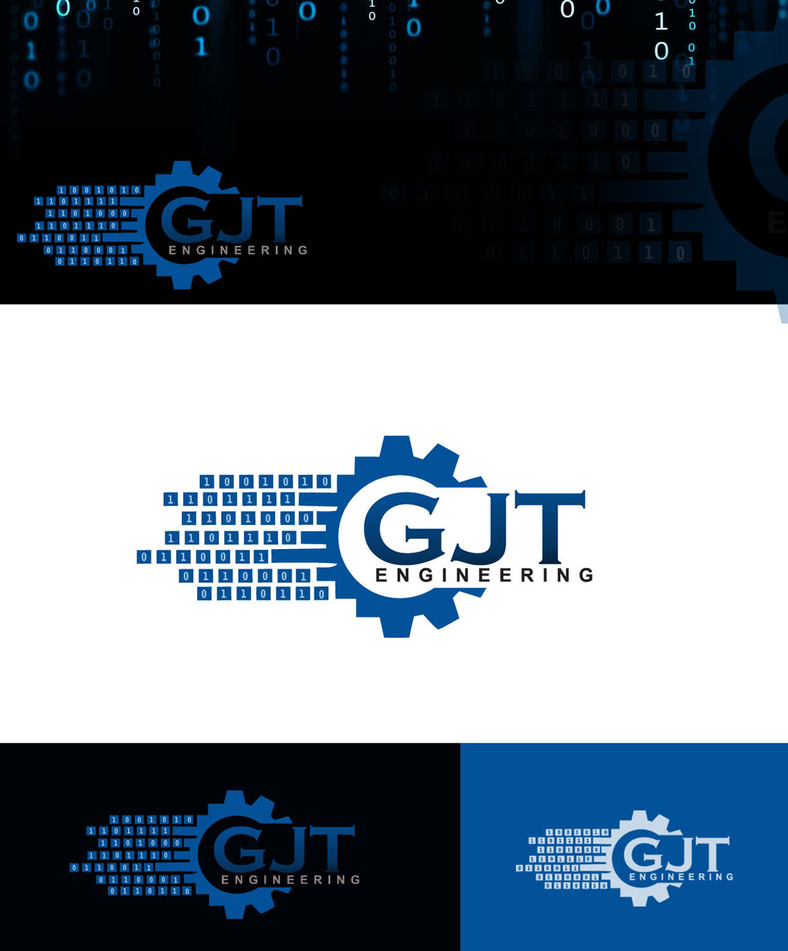 Modern professional it company logo design for gjt for Design and engineering companies