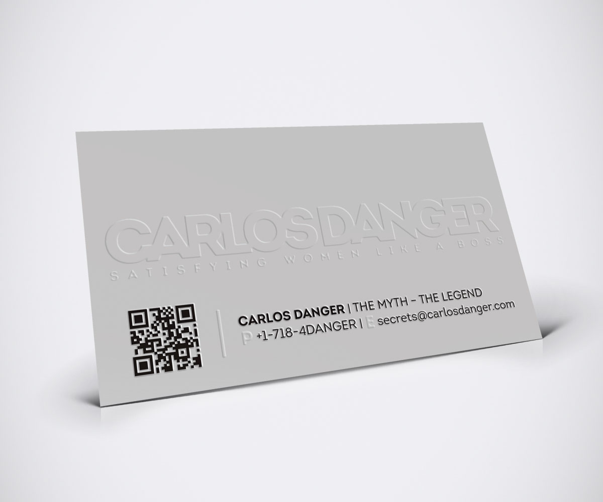 Business Card Design: 10 Funny Carlos Danger Business Cards