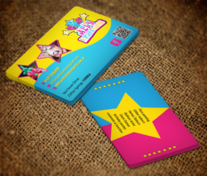 Business Card Design 7612348 Submitted To Children S Paty Stars Face Painting