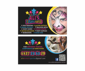 Business Card Design 7772965 Submitted To Children S Paty Stars Face Painting