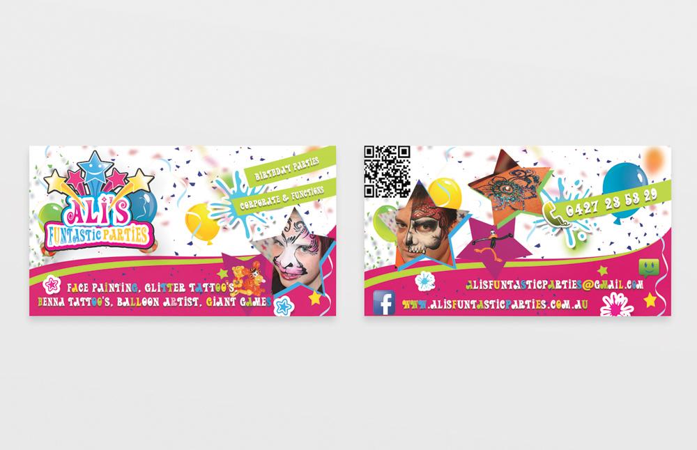 Design De Carte Visite Leger Colore Party Planning Pour A Company En Aux Australia
