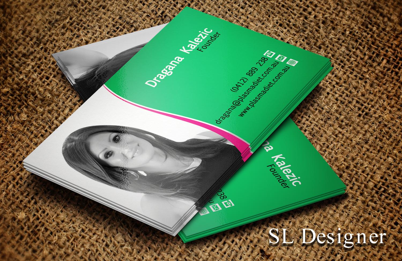 Elegant playful business card design for richard houston by sl business card design by sl designer for plasma diet business card design 7496240 magicingreecefo Choice Image