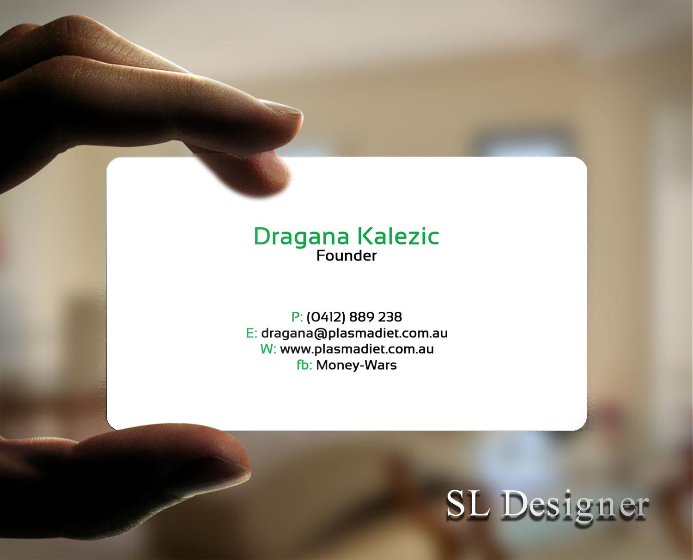 Elegant playful business card design for richard houston by sl business card design by sl designer for plasma diet business card design 7496652 magicingreecefo Choice Image