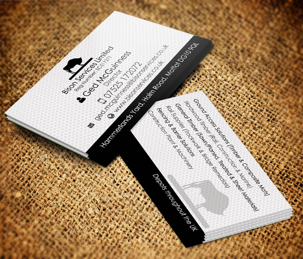 Business Business Card Design for Bison Services Limited by Feel ...