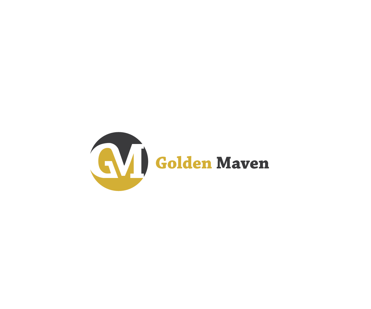 Elegant playful marketing logo design for golden maven for Logo creation wizard