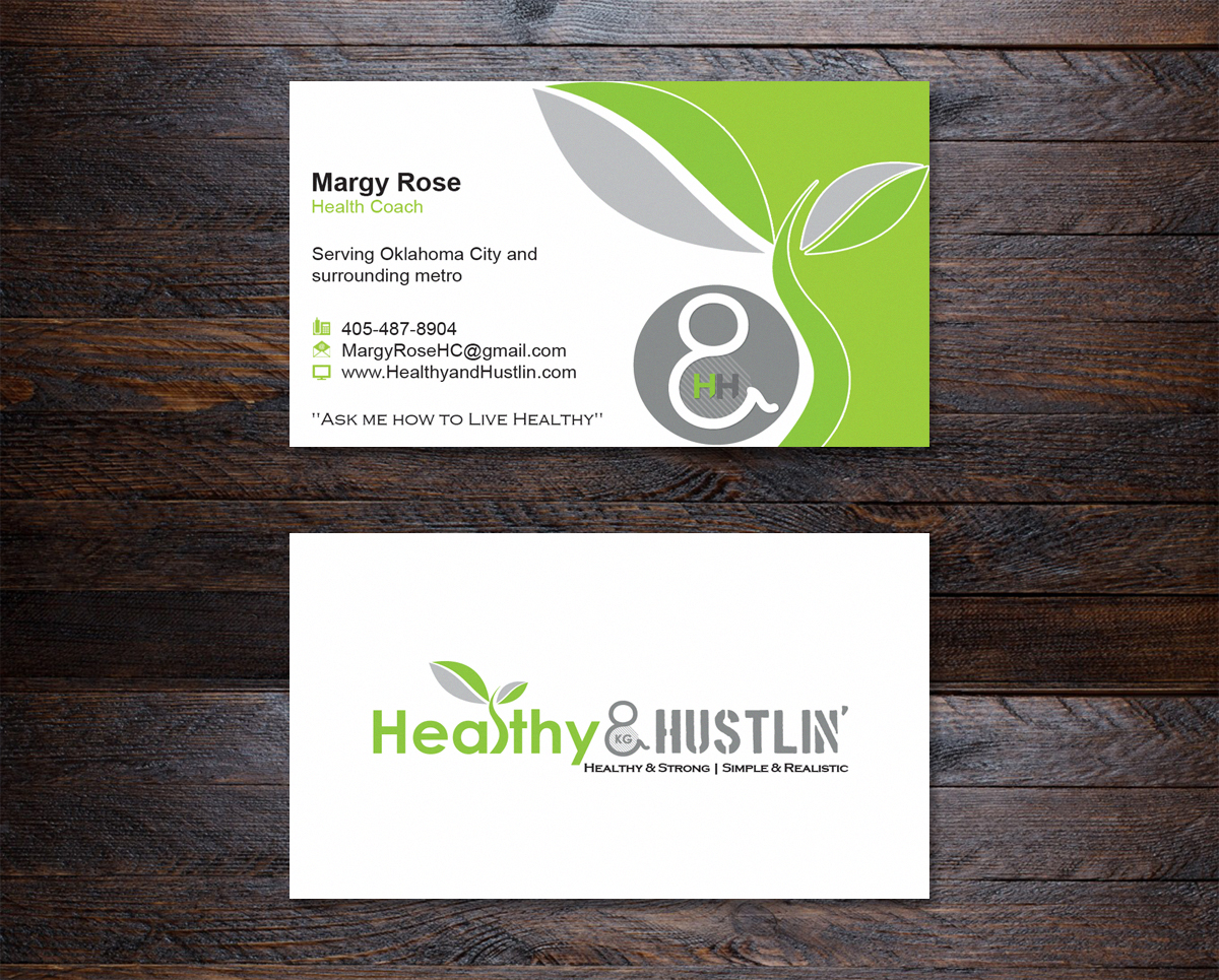 Playful modern business card design for healthy hustlin by business card design by nuhanenterprise for healthy and hustlin business card design design magicingreecefo Images