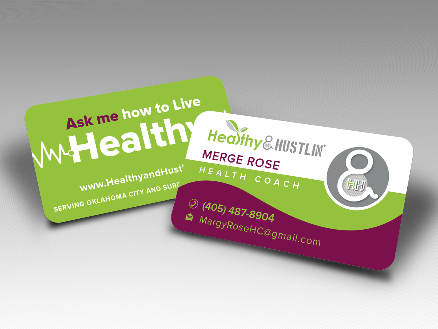 Playful modern business card design for healthy hustlin by business card design by popdesign for healthy and hustlin business card design design magicingreecefo Images