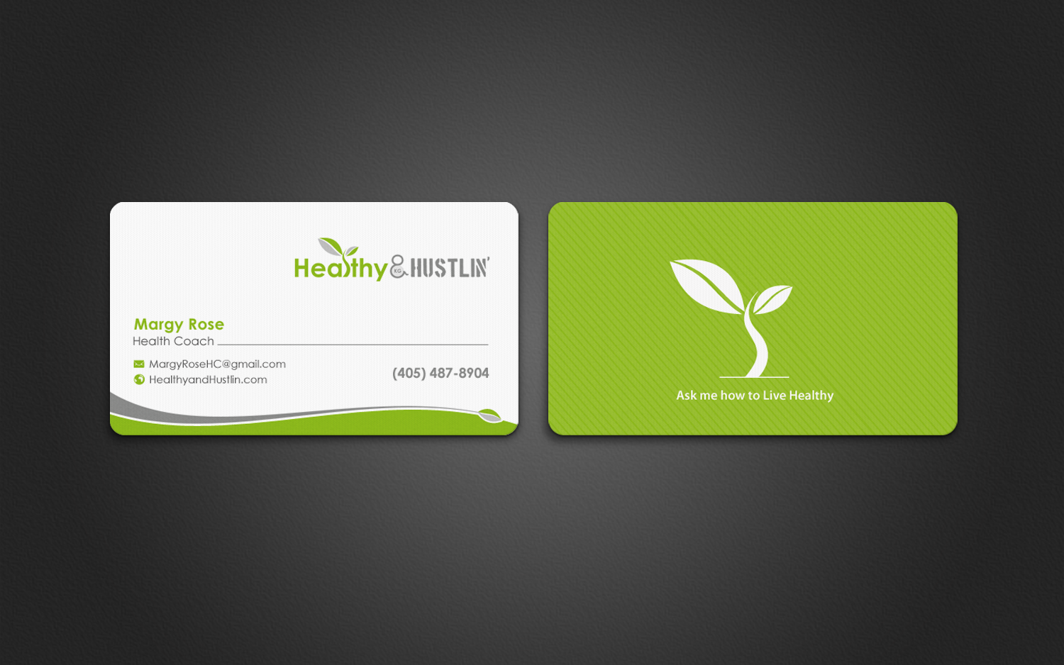 Best health business cards image collections card design for Health coach business card ideas