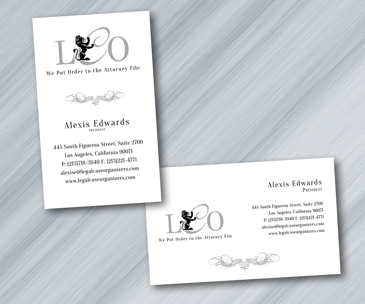 Serious, Professional, Printer Business Card Design for Legal Case ...