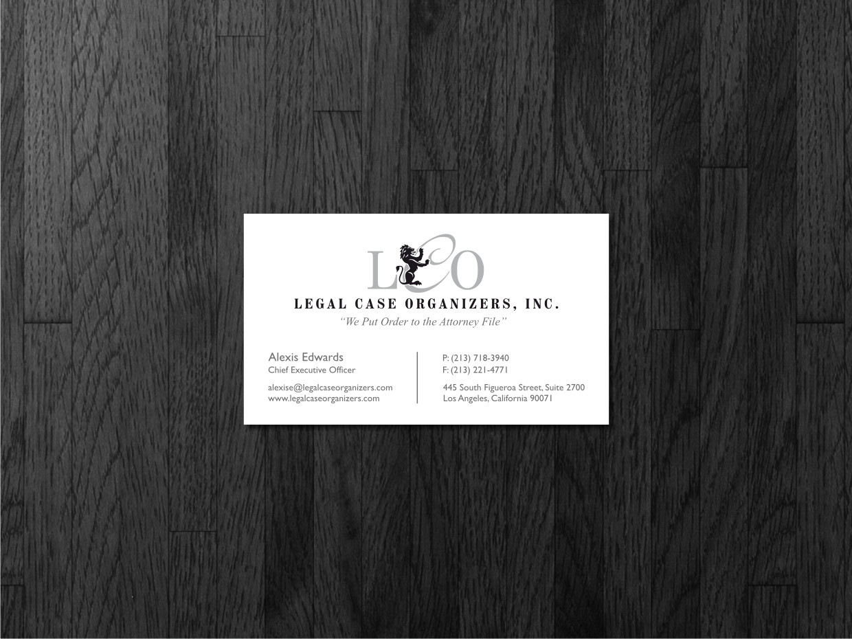 Serious professional printer business card design for legal case business card design by atvento graphics for legal case organizers design 1905964 colourmoves