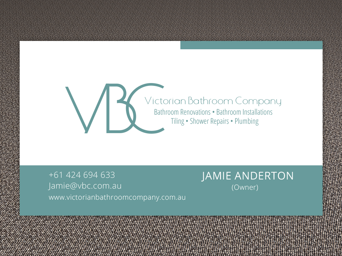 Modern Conservative Industry Business Card Design For Victorian