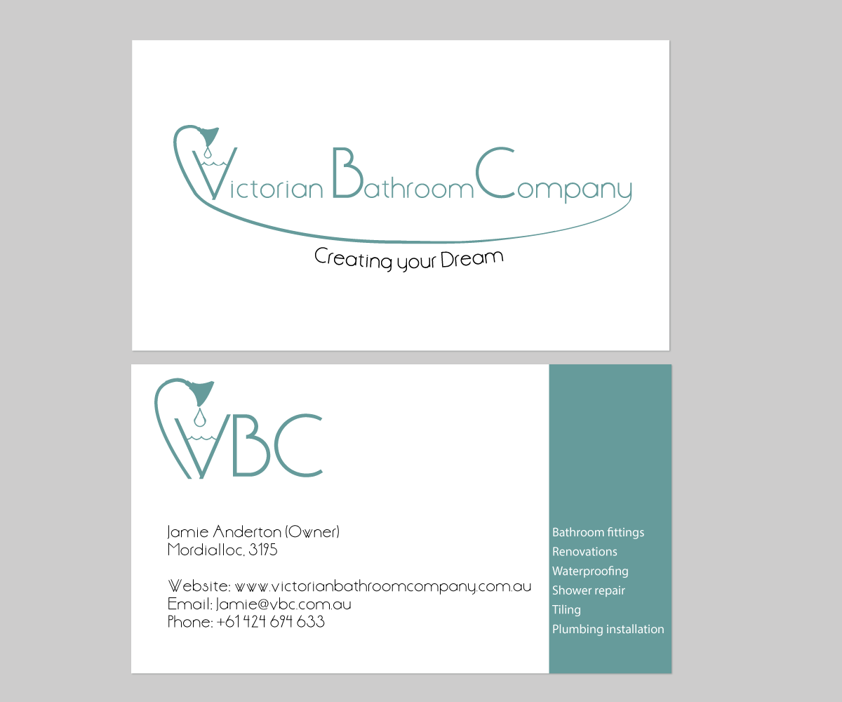 Modern, Conservative, Industry Business Card Design for Victorian ...