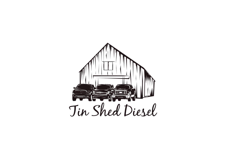 Masculine upmarket logo design for tin shed diesel by for Tin shed house design