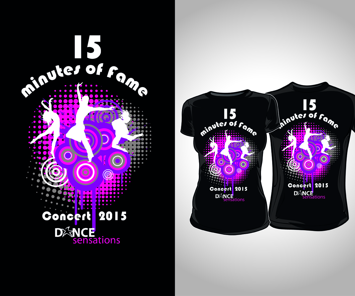 Design t shirt neon colors - T Shirt Design Design 7550668 Submitted To Dance Recital Concert Fun Bright