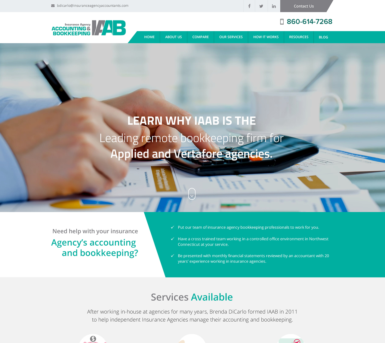 Elegant, Playful, Accounting Web Design for a Company by