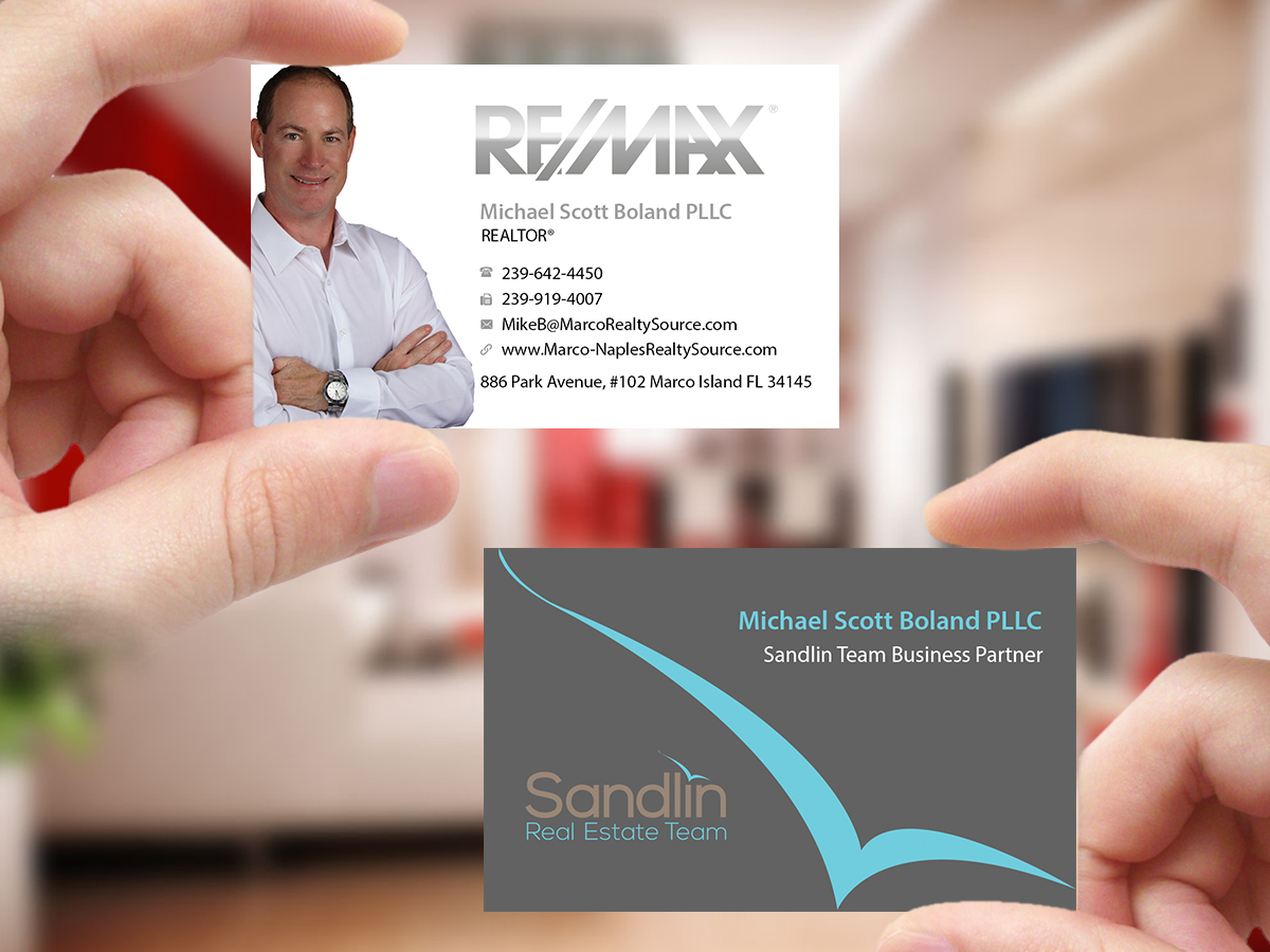 Upmarket professional business card design for mike boland by business card design by creations box 2015 for real estate business card completely outlined no black magicingreecefo Gallery