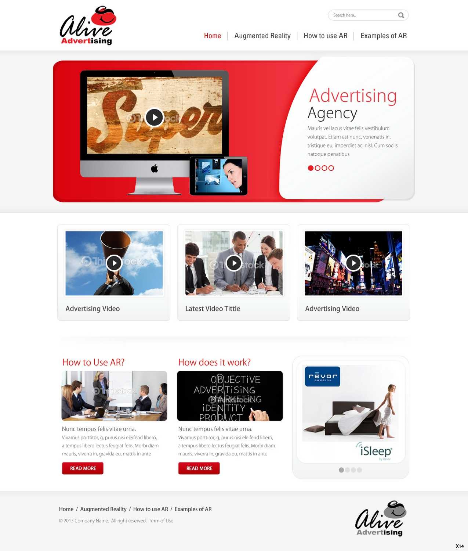 Elegant, Playful, Advertising Web Design for Creyf by pb
