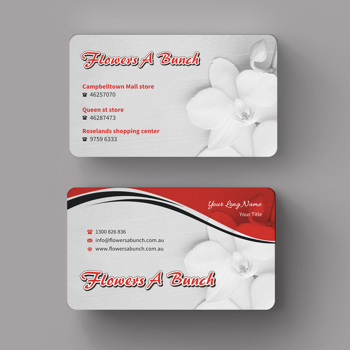 Modern professional business card design for flowers a bunch by business card design by indianashok for im florist that a new business card design design colourmoves
