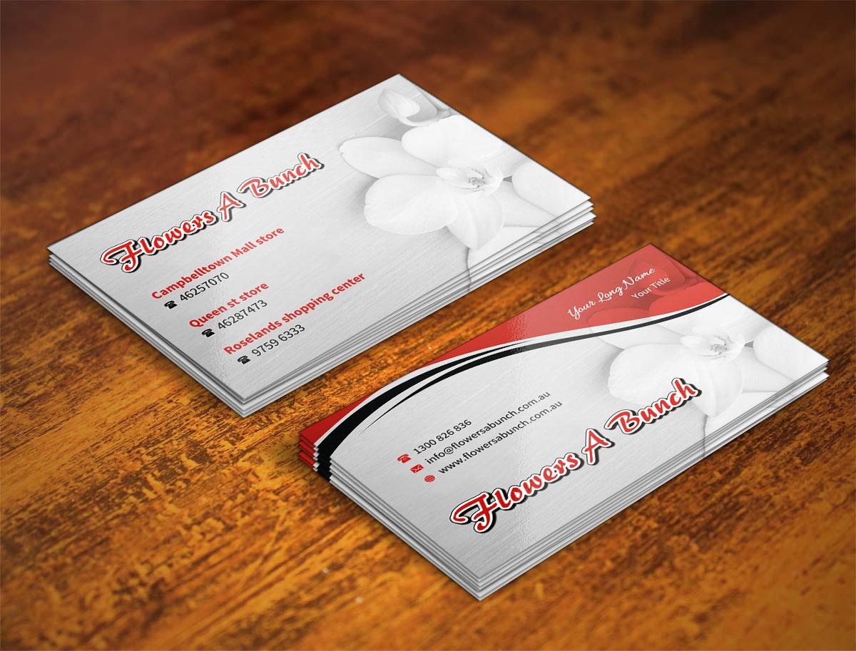 46 modern business card designs florist business card design business card design by indianashok for flowers a bunch design 7548392 colourmoves