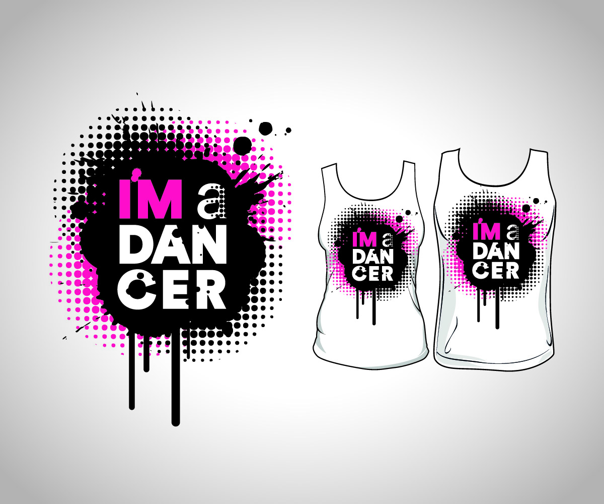 T shirt design youtube - T Shirt Design Design 7580772 Submitted To Youtube Dance Star Needs A