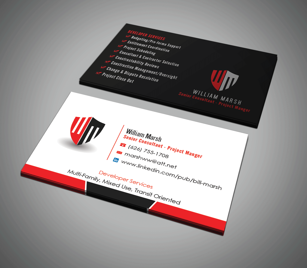 Modern bold real estate development business card design for a business card design by riz for this project design 7727987 reheart Images
