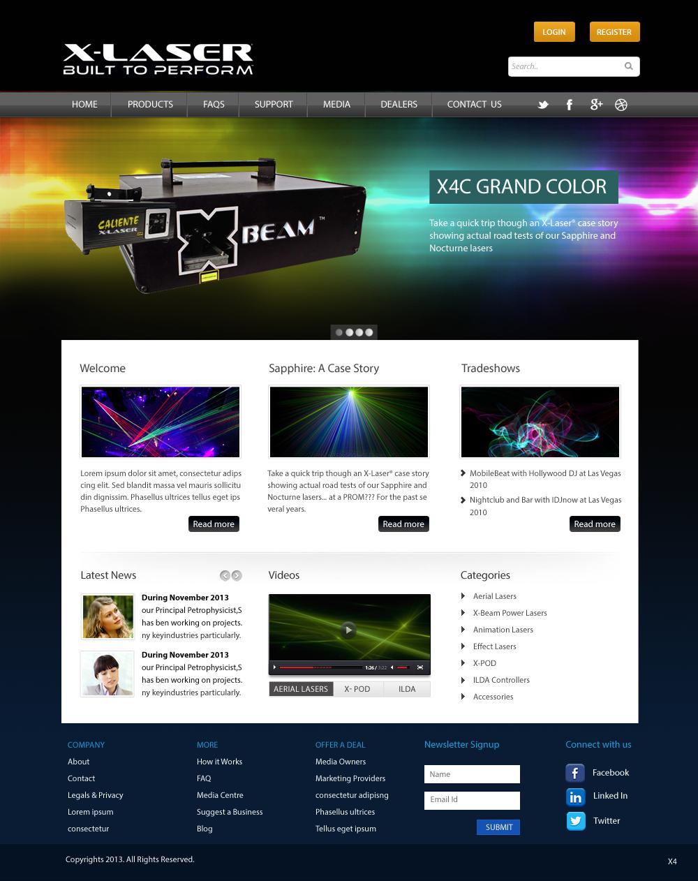 Modern masculine web design for dan goldsmith by pb for Masculine web design